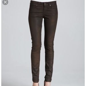 Rich and Skinny wax coated jeans.